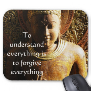Buddha Quote about FORGIVENESS and FORGIVING Mouse Pad