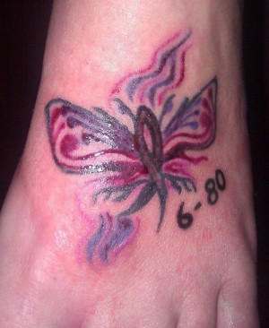 Memorial Cancer Butterfly...