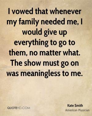 Kate Smith Family Quotes