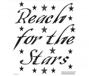 ... REACH FOR THE STARS WALL DECALS Motivational Quotes Stickers Decor