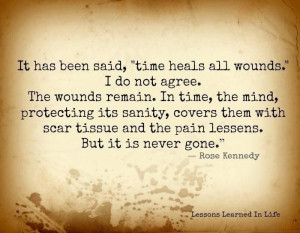 Does time REALLY heal all wounds...? Not for me...names, looks, fights ...