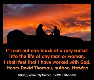Sunset God Quotes Henry david thoreau on sunsets