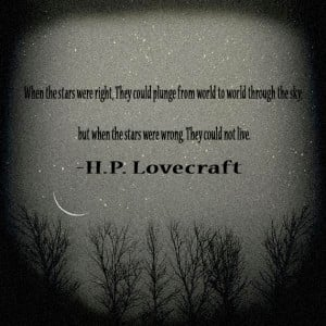Lovecraft Quote Wallpaper H.p. lovecraft quote by