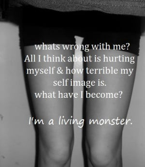 quotes skinny self harm monster