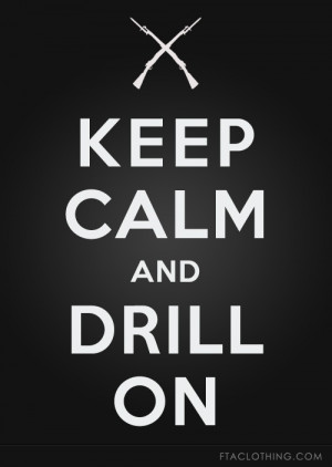 Keep Calm and Drill On #drill #armed #jrotc #rifle #spinning