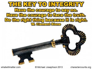 Quotes – Doing the Right Thing – Quote - The key to integrity ...