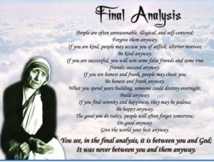 Mother Teresa Of Calcutta Quotes Do It Anyway ~ Croft