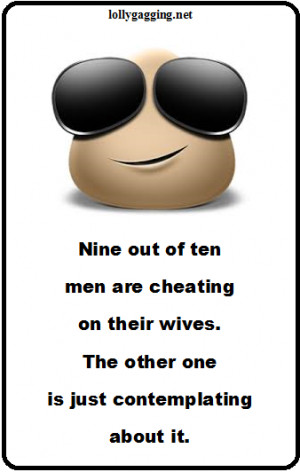 Funny Sign About Cheating Men - Image