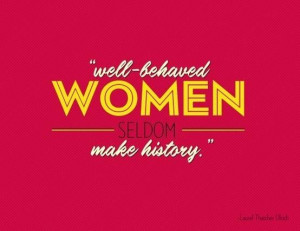 Favorite quotes and sayings women history