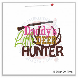 5277 Sayings : Daddy's Little Deer Hunter 5x7