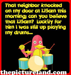 Me-And-My-Neighbor-Funny-Cute-Story-With-Cartoon-On-Drums-Picture