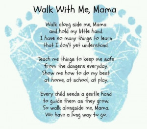 Footprint poem for mom, great for Mother's DayWalks, So Sweets ...
