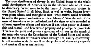 passage from Du Bois' Black Reconstruction in America
