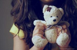 Girly, hand, teddy, bear, cute, sad, alone