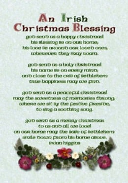 Irish Christmas Blessings, Greetings and Poems