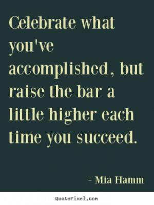 Mia Hamm Success Quote Print On Canvas