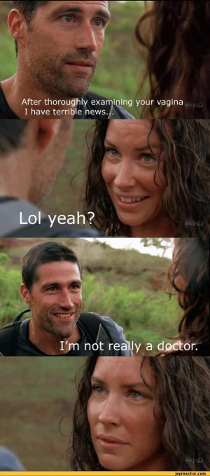 ... ,,funny pictures,auto,lost,jack shephard,kate austen,doctor,vagina