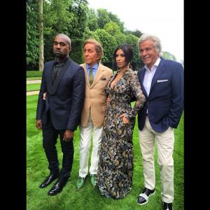 Kanye West, Valentino Garavani, Kim Kardashian and Giancarlo Giammetti