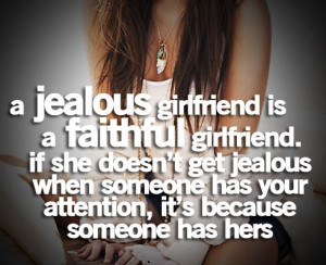 little jealousy is a good thing.
