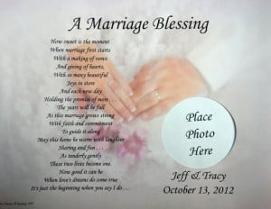 ... MARRIAGE BLESSING PERSONALIZED POEM BRIDE & GROOM WEDDING GIFT IDEA