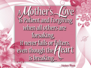 mother's love is patient and forgiving