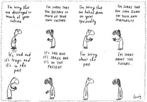 Sorry via Michael Leunig Appreciation Page (facebook)