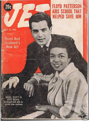 Hazel Scott & Husband Ezio Bedin from Jet Mag, May 23, 1961 Mr. Bedin ...