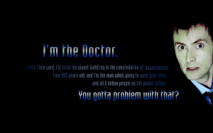 TV Show - Doctor Who Tv Sci Fi Quote Time Lord David Tennant Wallpaper
