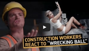 Reasonably funny parody showing Construction Workers reaction to Miley ...