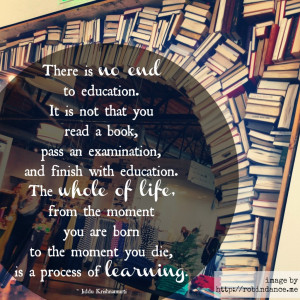 It's never too late to become a life-long learner
