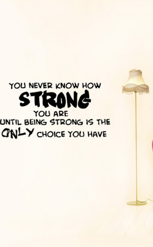 Wall Vinyl Sticker Decals Art Mural Inspirational Quote You Strong ...