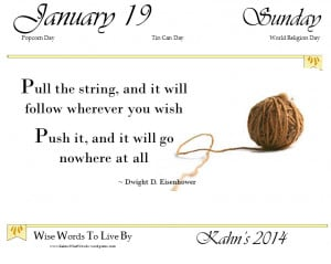Today's Quote ~ Pull the string…