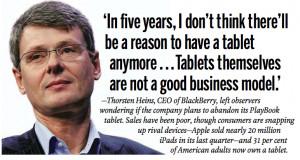 BlackBerry's Thorsten Heins disses tablets—jealous?