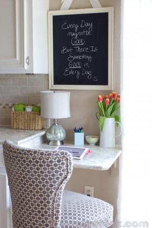 Small Kitchen Built in Desks