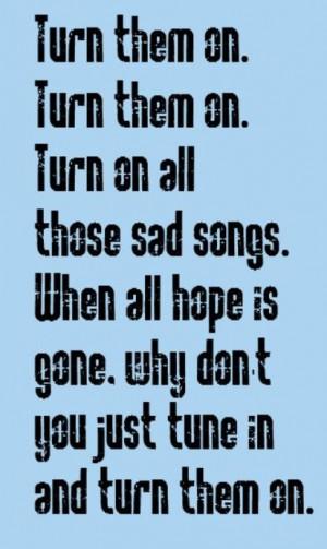 Elton John - Sad Songs - song lyrics, music lyrics, song quotes