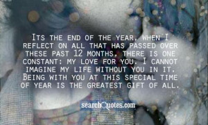 Its the end of the year, when I reflect on all that has passed over ...