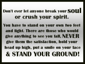 Stand your ground!!