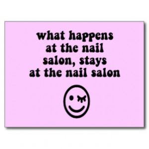 Funny nail salon post card