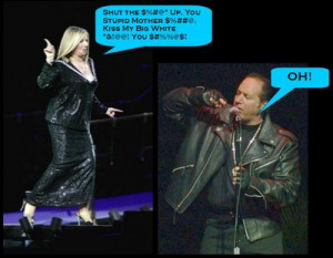 "Streisand Goes All ""Andrew Dice Clay"""