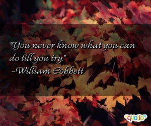 You never know what you can do till you try.