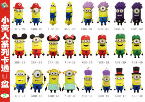 ... usb stick funny, minion usb flash drive paypal, 8GB whole sale toy usb