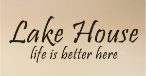 lake house quotes wall words lettering decals