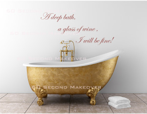 An encouraging wall decal for the bathroom by 60 Second Makeover .