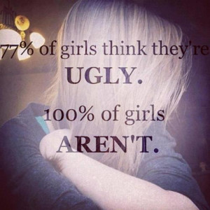girls quote beautiful ugly