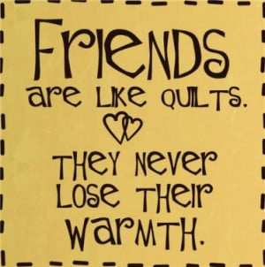Friends Are Like Quilts Life Quote Home Living Kids Room Vinyl Wall ...