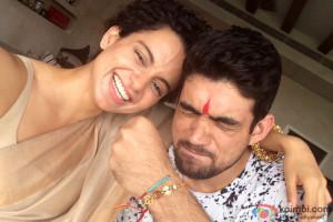 Kangana Ranaut celebrates Rakshabandhan with her brother