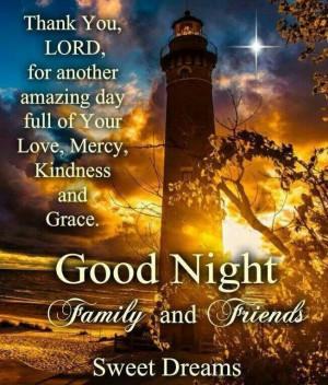 Good nite friends. Sweet dreams.