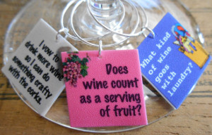 12 Funny Wine Sayings Wine Charms 'Your Wine Glasses deserve COOL ...