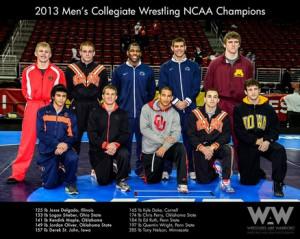 ... individual titles at the 2013 NCAA Division I Wrestling Championships