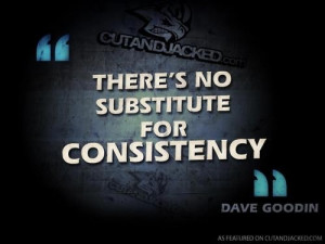 As hard as it may be, consistency is a key factor to success.